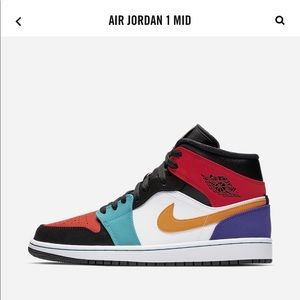 Nike Jordan 1 mid multi color